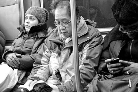 Passengers Chicago Underground CTA Red Line Train