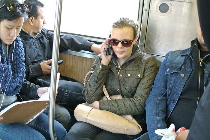Passengers on the Purple Line, Chicago