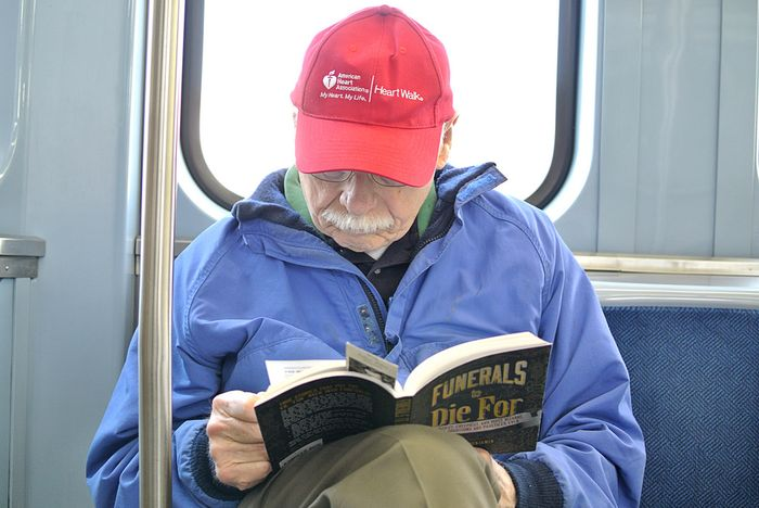 Red Hat on the Purple Line, Chicago