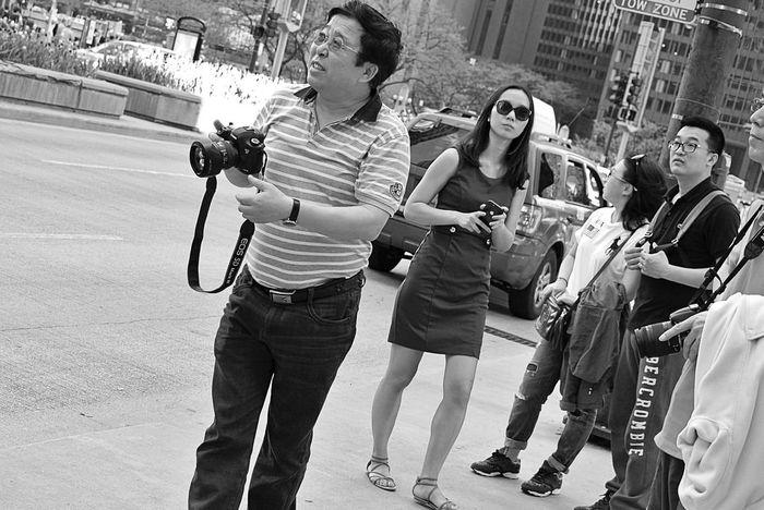 Black and white street photos Chicago 1