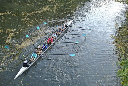 Chicago River, North Shore Channel, Rowing Team Practice