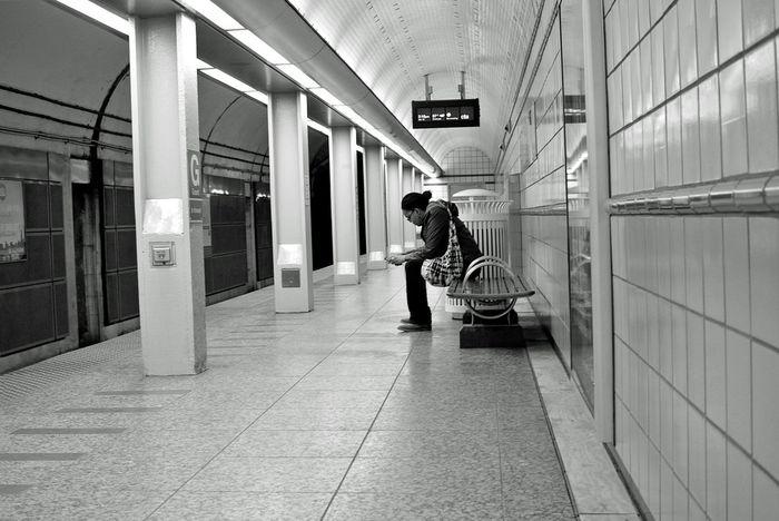 Waiting at Grand and State, Chicago Underground
