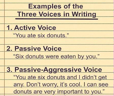 Voices in writing