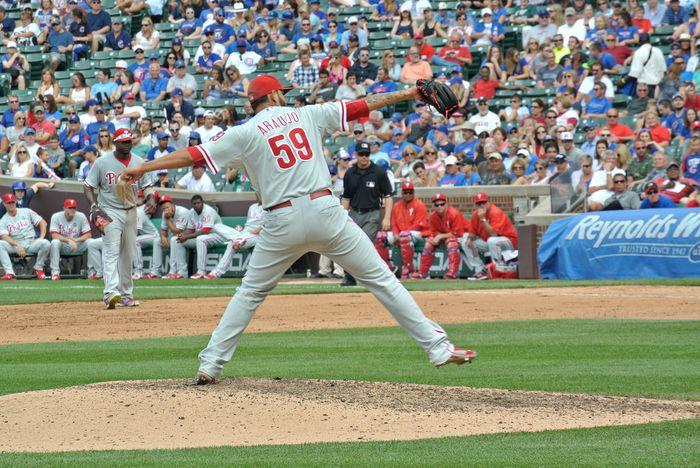 Elvis Araujo Wrigley Field Cubs vs Phillies
