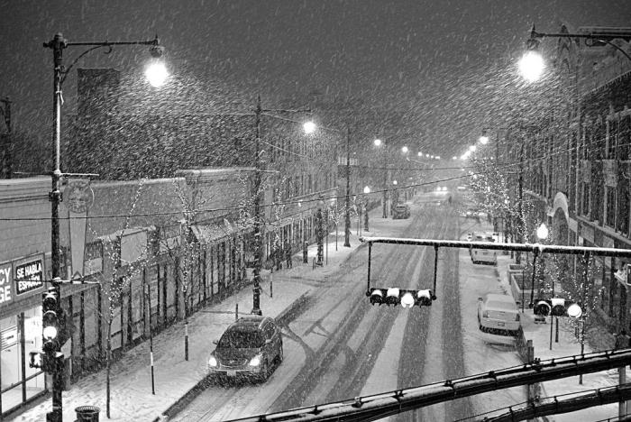 Chicago Evening Snowfall Sunday December 11 2016