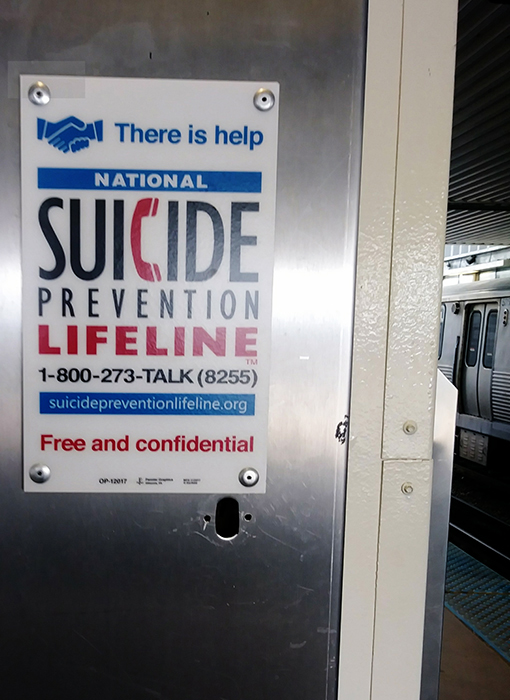 Suicide by train CTA