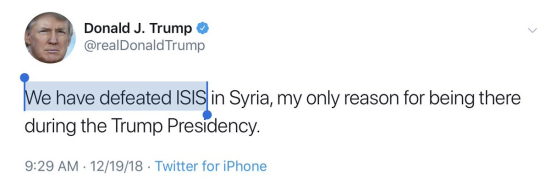 Defeaated ISIS