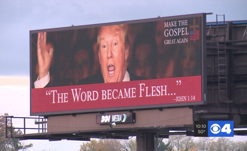 Trump billboard Bible