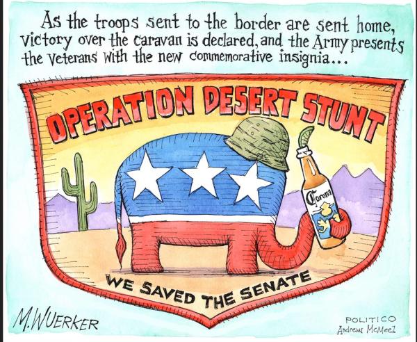 Migrant caravan army patch