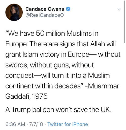 Candace owens muslims