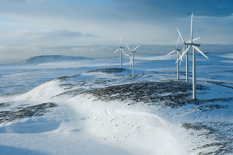 Arctic wind turbines